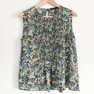 ZARA Floral Sleeveless Top